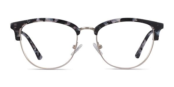Sophisticated Ivory Tortoise & Silver Acetate-metal Montures de lunettes de vue