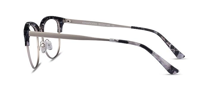 Sophisticated Ivory Tortoise & Silver Acetate-metal Montures de lunettes de vue d'EyeBuyDirect