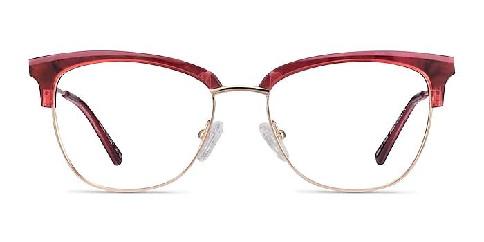 Gala Rapsberry & Gold Acetate-metal Montures de lunettes de vue d'EyeBuyDirect