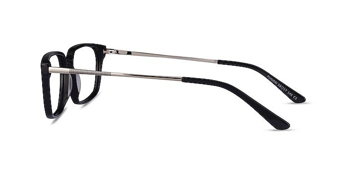 Fusion Black Silver Acetate Eyeglass Frames from EyeBuyDirect