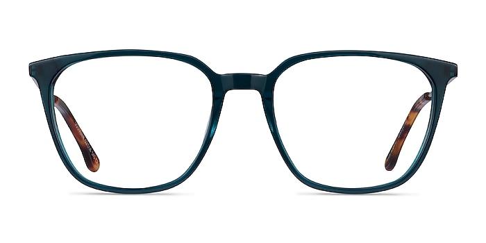 Souvenir Clear Teal Light Gold Acétate Montures de lunettes de vue d'EyeBuyDirect