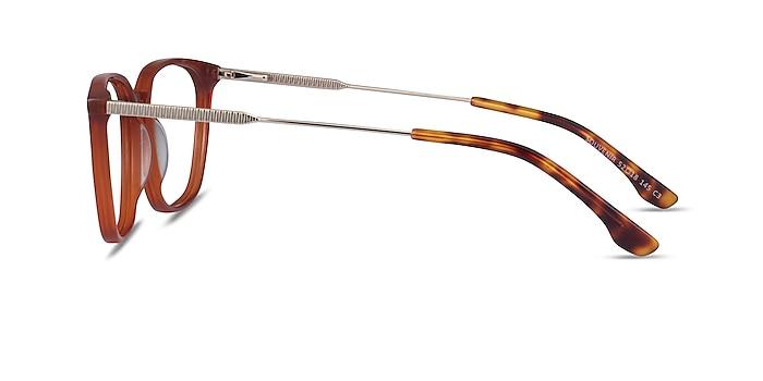 Souvenir Terracotta Orange Light Gold Acetate Eyeglass Frames from EyeBuyDirect