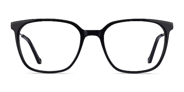 Confident Black Silver Acetate Eyeglass Frames