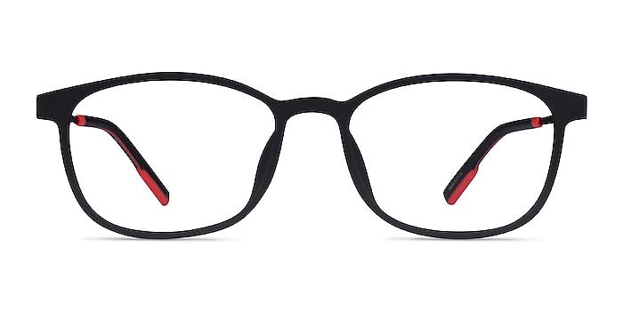 Idea Matte Black  Plastic Eyeglass Frames from EyeBuyDirect