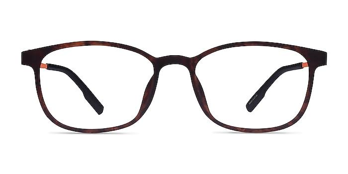 Idea Matte Tortoise Orange Plastic Eyeglass Frames from EyeBuyDirect