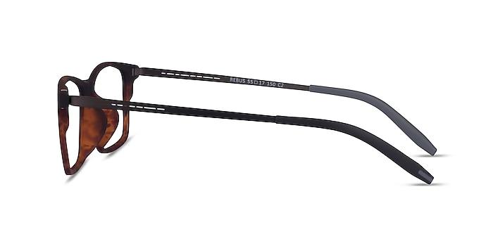 Rebus Matte Tortoise Black Metal Eyeglass Frames from EyeBuyDirect
