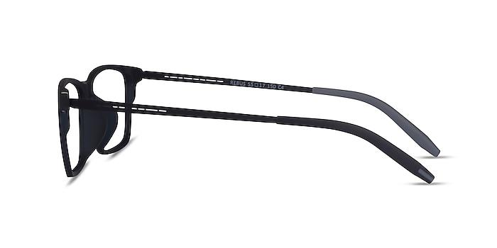 Rebus Matte Navy Black Metal Eyeglass Frames from EyeBuyDirect