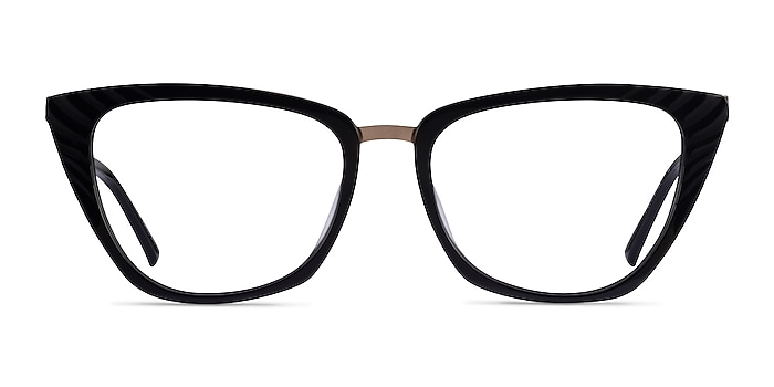 Trenta Black Gold Acetate Eyeglass Frames from EyeBuyDirect