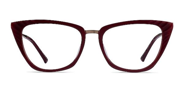Trenta Burgundy Gold Acetate Eyeglass Frames