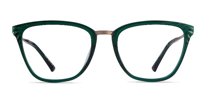 Azur Clear Green Acetate Eyeglass Frames from EyeBuyDirect