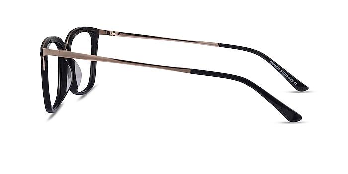 Grande Black Gold Acetate Eyeglass Frames from EyeBuyDirect