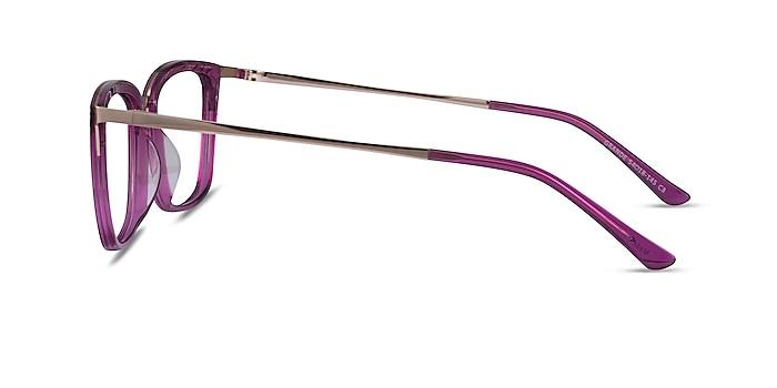 Grande Purple Gold Acetate Eyeglass Frames from EyeBuyDirect
