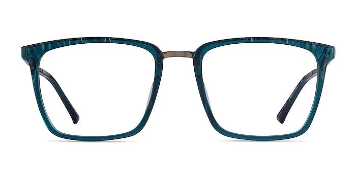 Metaphor Teal Acetate Eyeglass Frames from EyeBuyDirect