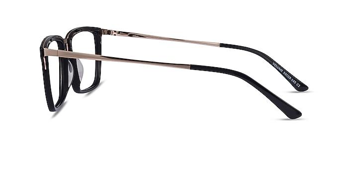 Volume Black Gold Acetate Eyeglass Frames from EyeBuyDirect