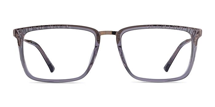 Volume Clear Gray Acetate Eyeglass Frames from EyeBuyDirect