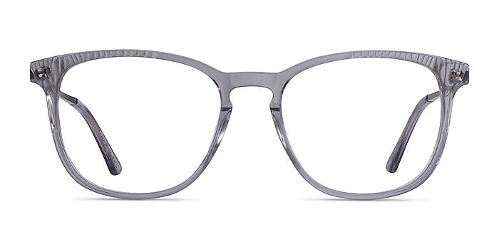 Astute Clear Gray Acetate Eyeglass Frames from EyeBuyDirect
