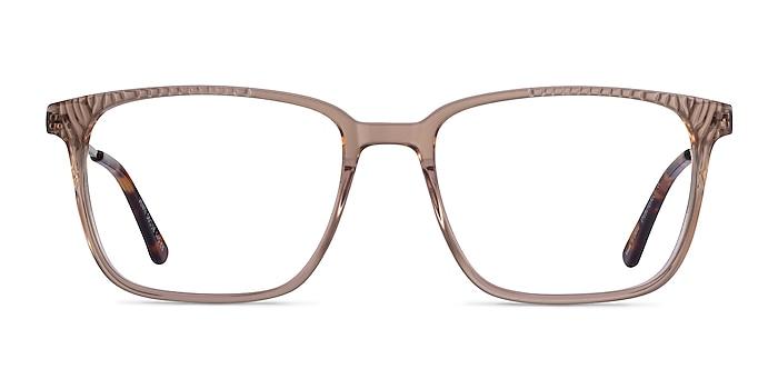 Venti Clear Brown Acétate Montures de lunettes de vue d'EyeBuyDirect
