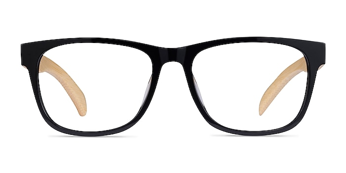 Reserve Black & Light Wood Acetate Eyeglass Frames from EyeBuyDirect