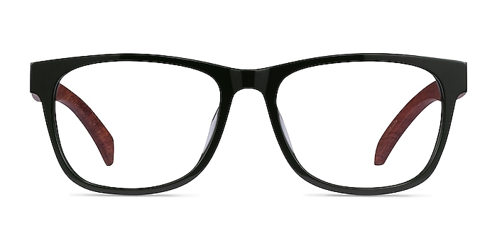 Reserve Green & Red Wood Acetate Eyeglass Frames from EyeBuyDirect
