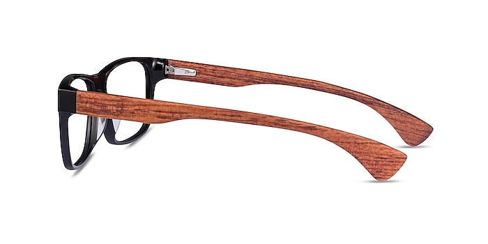 Taiga Black & Wood Acetate Eyeglass Frames from EyeBuyDirect