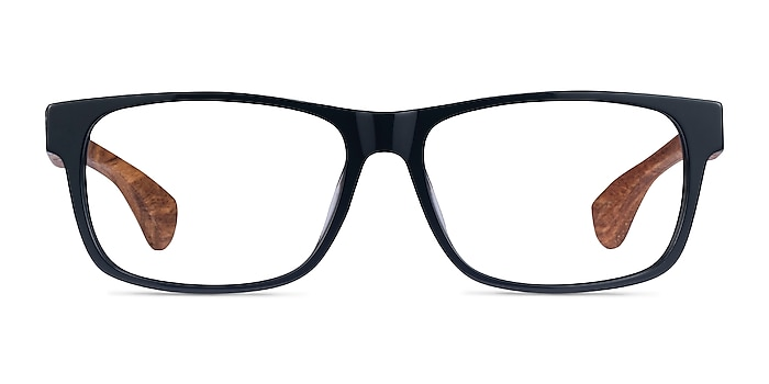 Taiga Dark Gray & Wood Acetate Eyeglass Frames from EyeBuyDirect