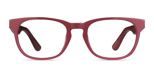Tongass Red & Red Wood Acetate Eyeglass Frames