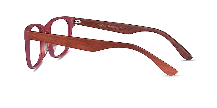 Tongass Red & Red Wood Acetate Eyeglass Frames from EyeBuyDirect