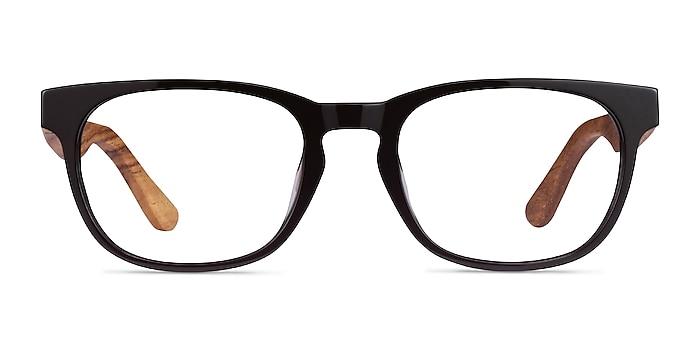 Tongass Dark Brown & Wood Acétate Montures de lunettes de vue d'EyeBuyDirect