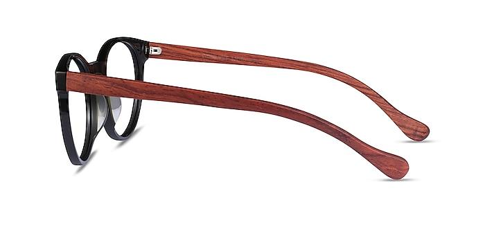 Everglades Green & Red Wood Acetate Eyeglass Frames from EyeBuyDirect