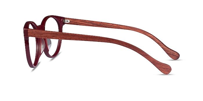 Everglades Red & Red Wood Acétate Montures de lunettes de vue d'EyeBuyDirect
