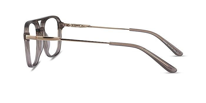 Eddie Clear Gray Acétate Montures de lunettes de vue d'EyeBuyDirect