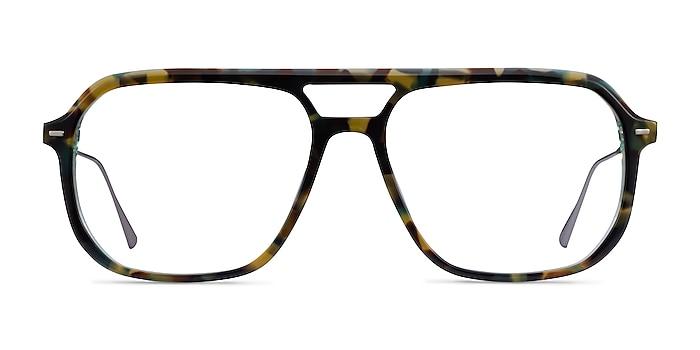 Intrepid Green Tortoise Acetate Eyeglass Frames from EyeBuyDirect