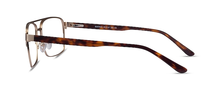 Gustave Gold Tortoise Acétate Montures de lunettes de vue d'EyeBuyDirect