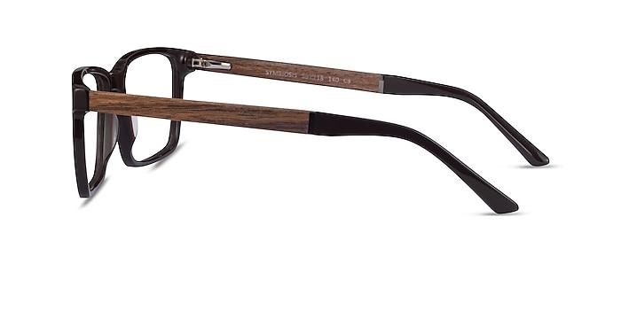 Symbiosis Marron Acétate Montures de lunettes de vue d'EyeBuyDirect