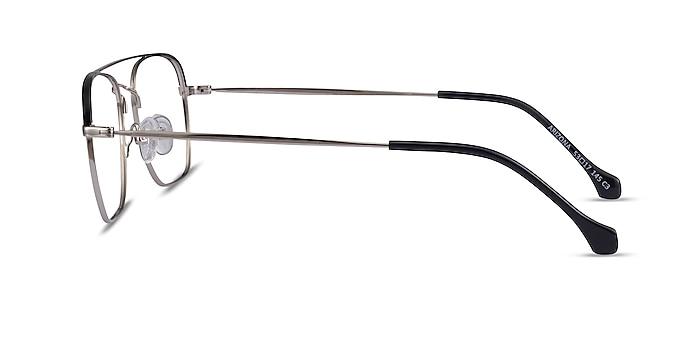 Arizona Silver Black Acétate Montures de lunettes de vue d'EyeBuyDirect