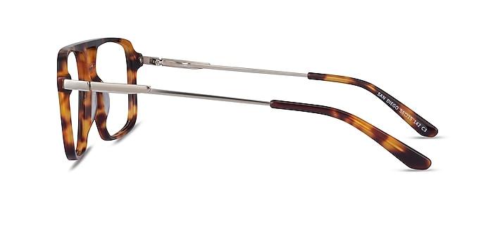 San Diego Tortoise Silver Acétate Montures de lunettes de vue d'EyeBuyDirect