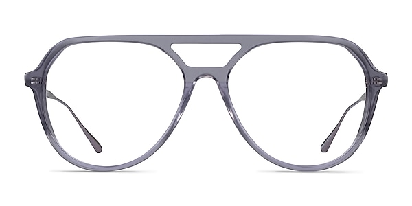 Cumulus Clear Gray Silver Acetate Eyeglass Frames