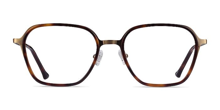 Atami Tortoise Matte Gold Acetate Eyeglass Frames from EyeBuyDirect