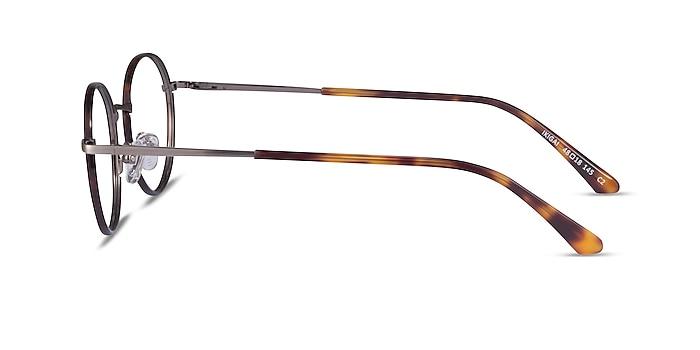 Ikigai Tortoise Gunmetal Acetate Eyeglass Frames from EyeBuyDirect