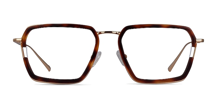 Tsundoku Tortoise Gold Acétate Montures de lunettes de vue d'EyeBuyDirect