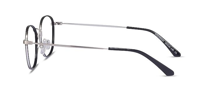 Kogarashi Black Silver Acetate Eyeglass Frames from EyeBuyDirect