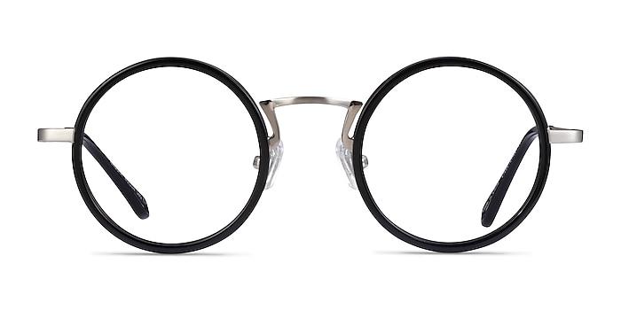 Nagoya Black Silver Acetate Eyeglass Frames from EyeBuyDirect