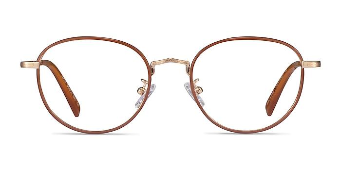 Kofu Brown Gold Acetate Eyeglass Frames from EyeBuyDirect