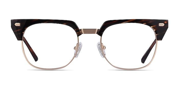 Nichibotsu Tortoise Gold Acetate Eyeglass Frames from EyeBuyDirect