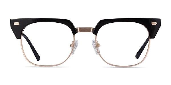 Nichibotsu Black Gold Acetate Eyeglass Frames