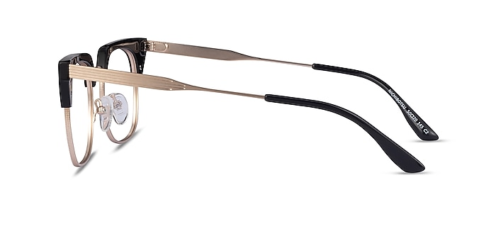 Nichibotsu Black Gold Acetate Eyeglass Frames from EyeBuyDirect