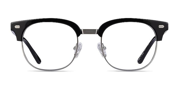 Komorebi Black Silver Acetate Eyeglass Frames from EyeBuyDirect