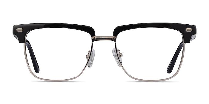 Murakami Black Silver Acetate Eyeglass Frames from EyeBuyDirect