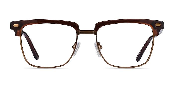Murakami Clear Brown Bronze Acétate Montures de lunettes de vue d'EyeBuyDirect