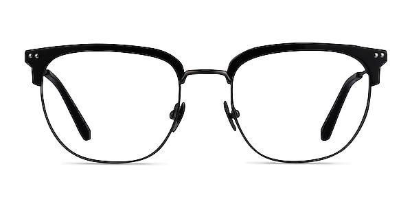 Cloudesley Black Gunmetal Acetate Eyeglass Frames